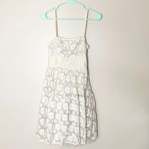 Anthropologie Lil dress cream lace